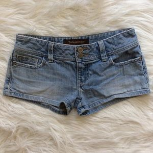 hollister • denim shorts • size 0